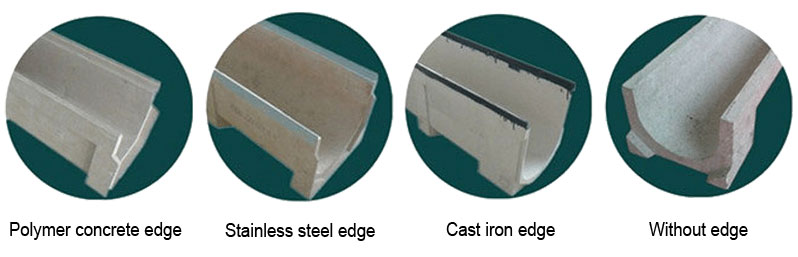 Materials of drainage channel edge protection