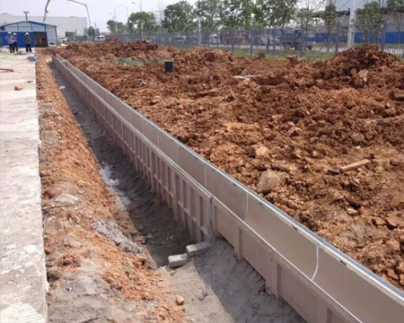 A picture of resin concrete U-shaped finished drainage ditch products
