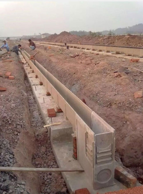 Linear drainage system installation